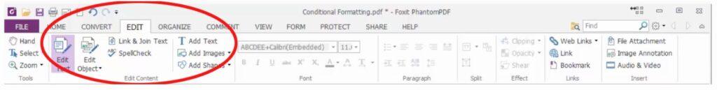 edit text foxit