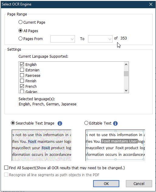 foxit - multilanguage ocr